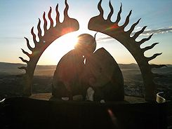 Sculpture Greeting the Sunrise at Mountain Top