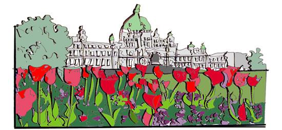Digital Doodle of Victoria's Iconic Parliament Buildings