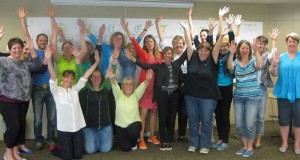Practitioners Striking the Star Person Pose!