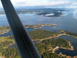 View from Air: San Juan Islands