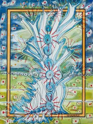 XinaMerk Painting: Vibrational Scale