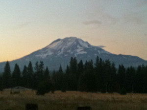 Watchful Gaze of Mount Adams