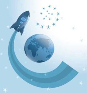 rocket-around-earth