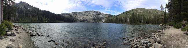 Panoramic View of Castle Lake, Mt. Shasta, California