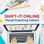 thumbnail line art for shift it online hands on computer