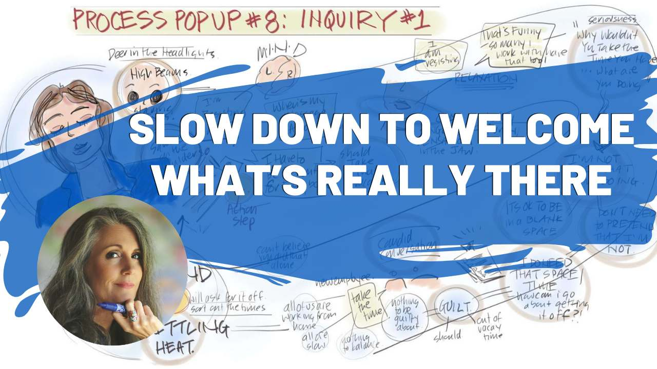 Process PopUp 8 Slow Down To Welcome What's Really There