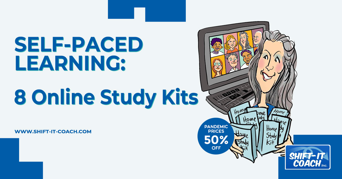 Self paced learning study kits with shift-it coach Christina merkley