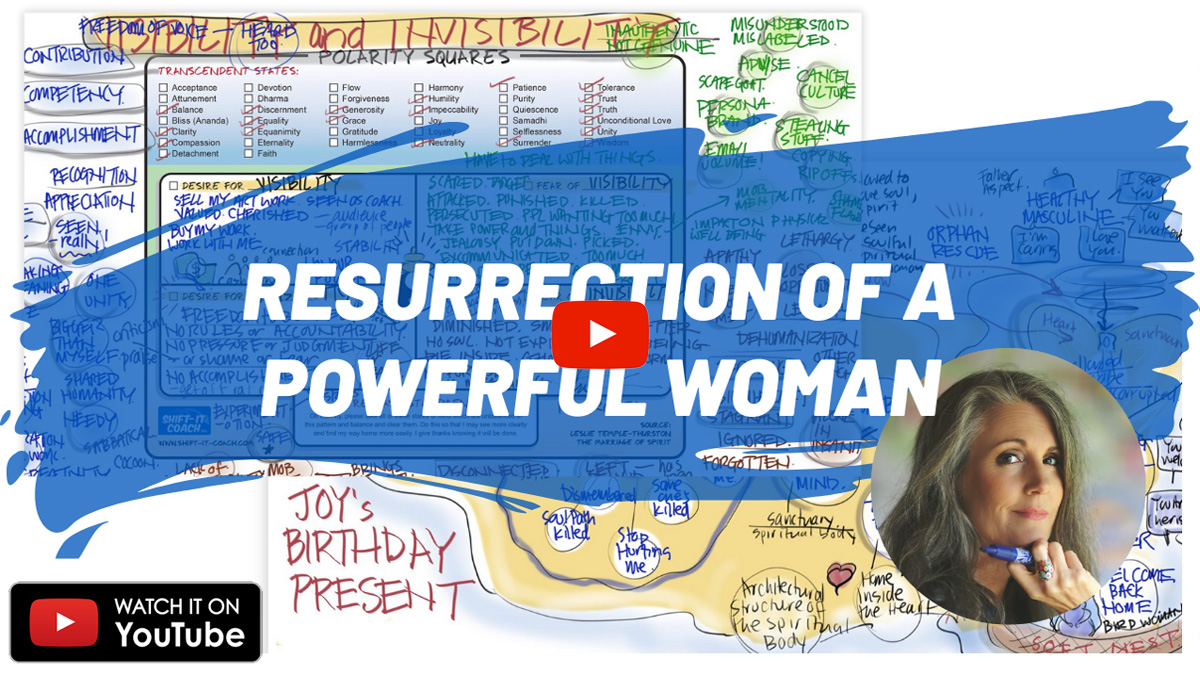 resurrection of a powerful woman session maps and photo of Christina Merkley